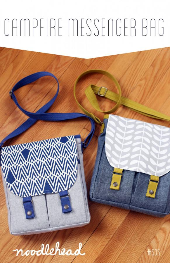 Campfire Messenger Bag sewing pattern from Noodlehead