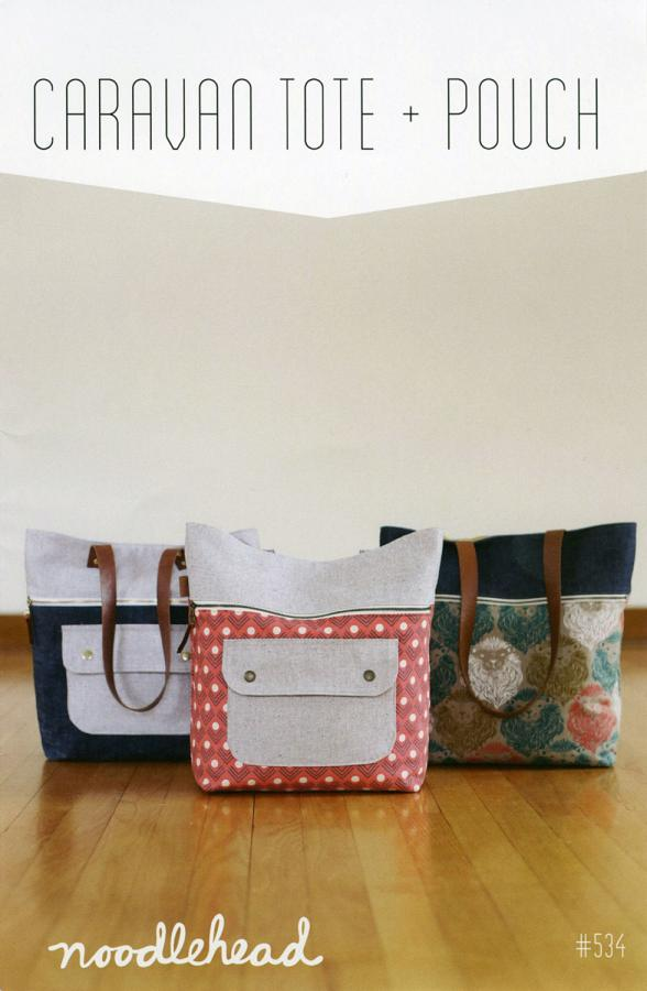 Caravan Tote & Pouch sewing pattern from Noodlehead