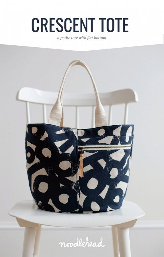 Crescent Tote sewing pattern from Noodlehead
