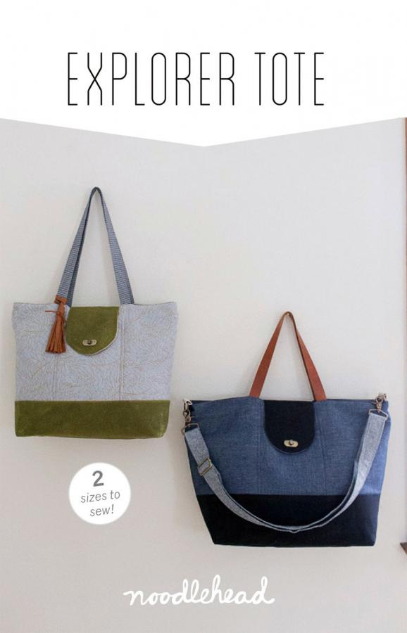 Explorer Tote sewing pattern from Noodlehead