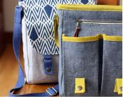Campfire Messenger Bag sewing pattern from Noodlehead 3