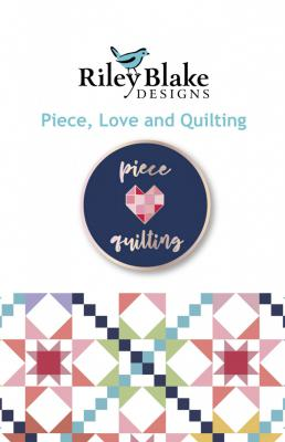 CLOSEOUT...Piece, Love and Quilting Enamel Pin from Riley Blake Designs
