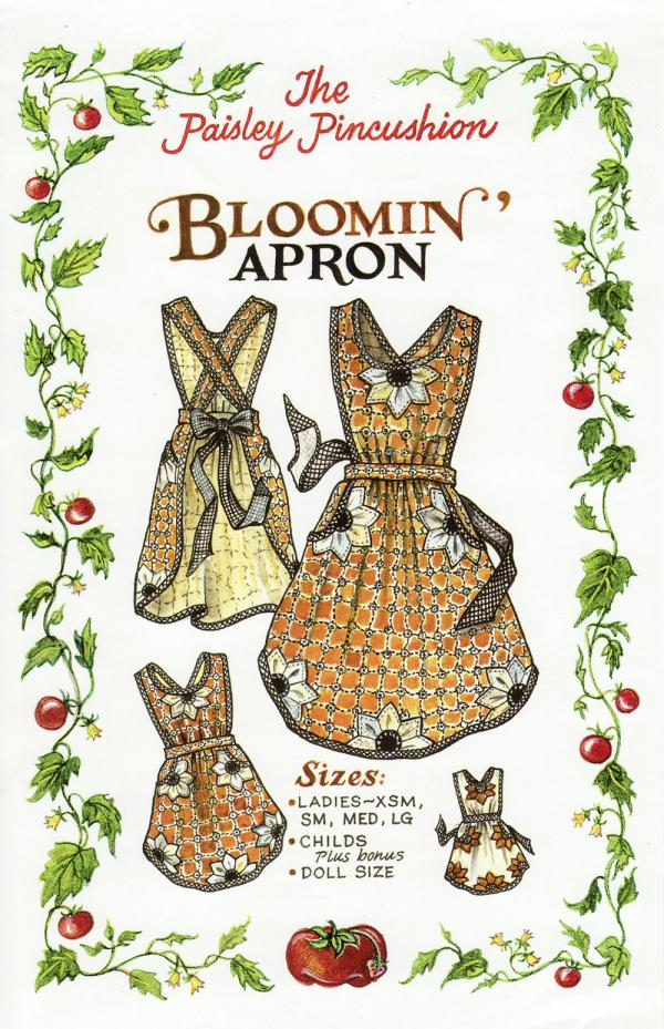 Bloomin' Apron sewing pattern from Paisley Pincushion