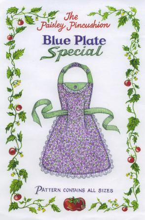 INVENTORY REDUCTION...Blue Plate Special Apron sewing pattern from Paisley Pincushion