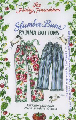 Slumber Buns Pajama Bottoms sewing pattern from Paisley Pincushion