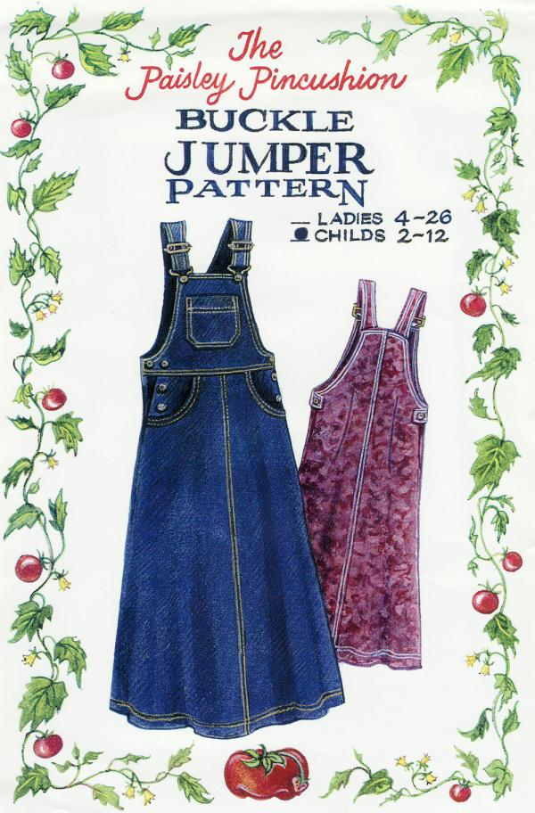 Buckle Jumper Child sewing pattern from Paisley Pincushion