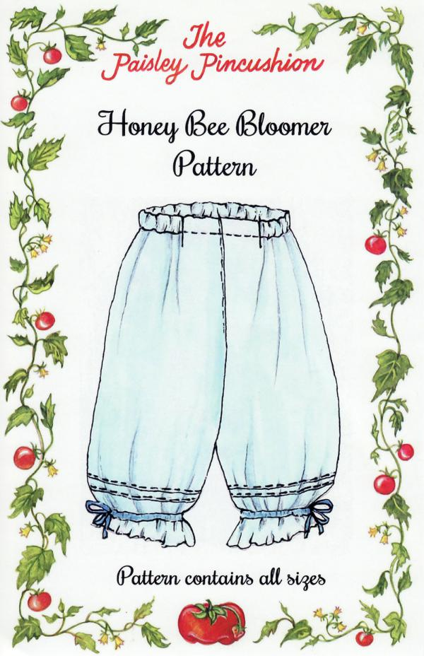 Honey Bee Bloomers sewing pattern from Paisley Pincushion