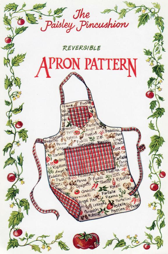 Reversible Apron sewing pattern from Paisley Pincushion