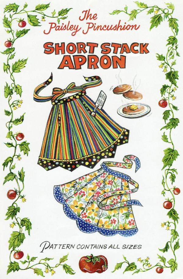 Short Stack Apron sewing pattern from Paisley Pincushion