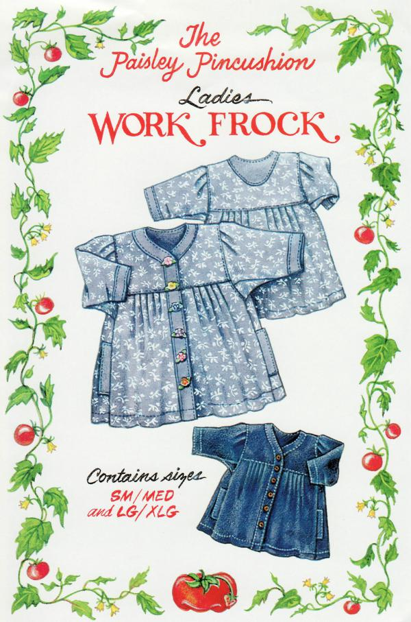 INVENTORY REDUCTION...Work Frock sewing pattern from Paisley Pincushion