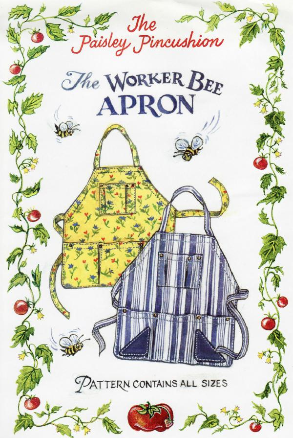 INVENTORY REDUCTION...Worker Bee Apron sewing pattern from Paisley Pincushion