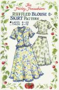 Ladies Ruffled Blouse & Skirt sewing pattern from Paisley Pincushion