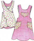 Scalloped Apron sewing pattern from Paisley Pincushion 3