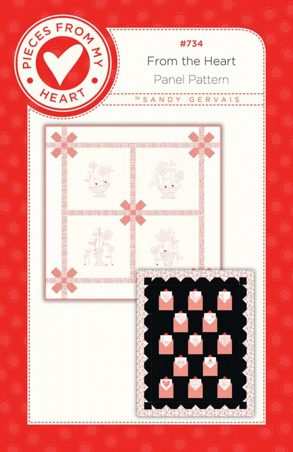 From The Heart Quilt Sewing Pattern from Pieces From My Heart