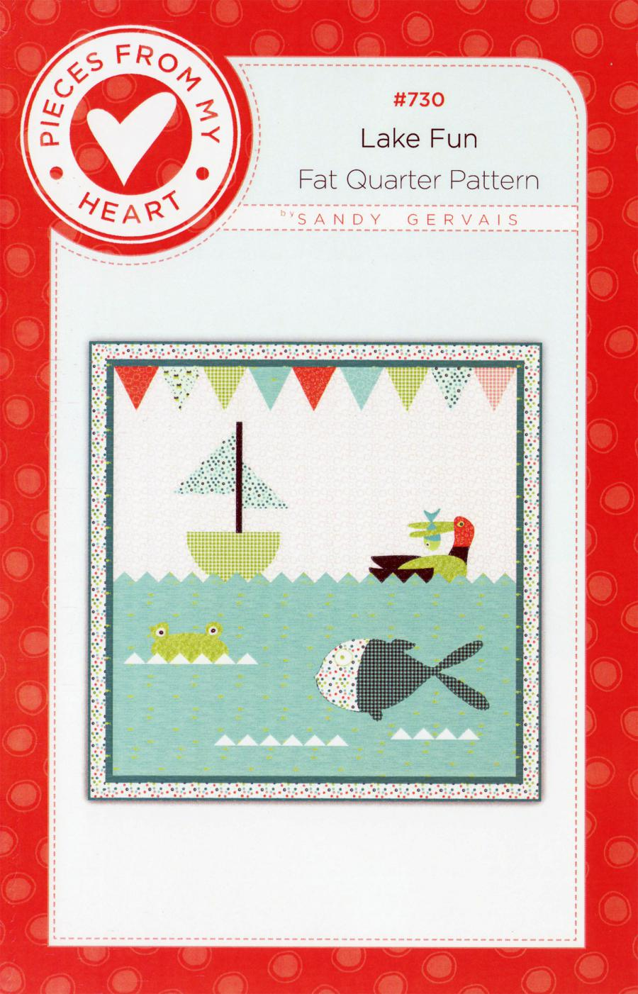CLOSEOUT...Lake Fun Quilt Sewing Pattern from Pieces From My Heart