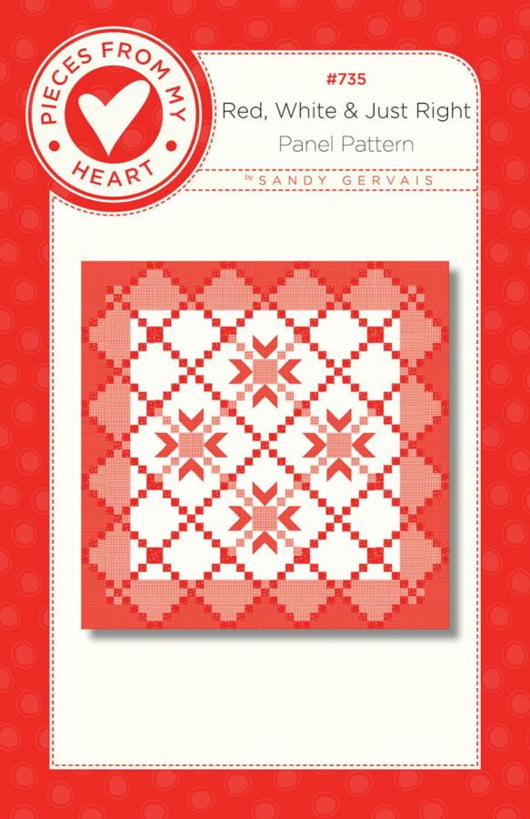 Red, White, and Just Right Quilt Sewing Pattern from Pieces From My Heart