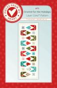 Gnome For The Holidays Table Runner Sewing Pattern from Pieces From My Heart by Sandy Gervais