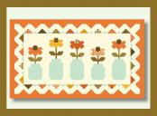 In A Fruit Jar Table Runner Sewing Pattern from Pieces From My Heart 2