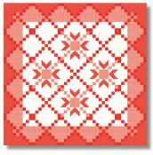 Red, White, and Just Right Quilt Sewing Pattern from Pieces From My Heart 2