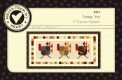 Turkey Trot Table Runner Sewing Pattern from Pieces From My Heart