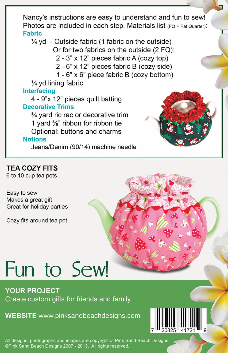 Afternoon-Tea-Party-sewing-pattern-Pink-Sand-Beach-Designs-back
