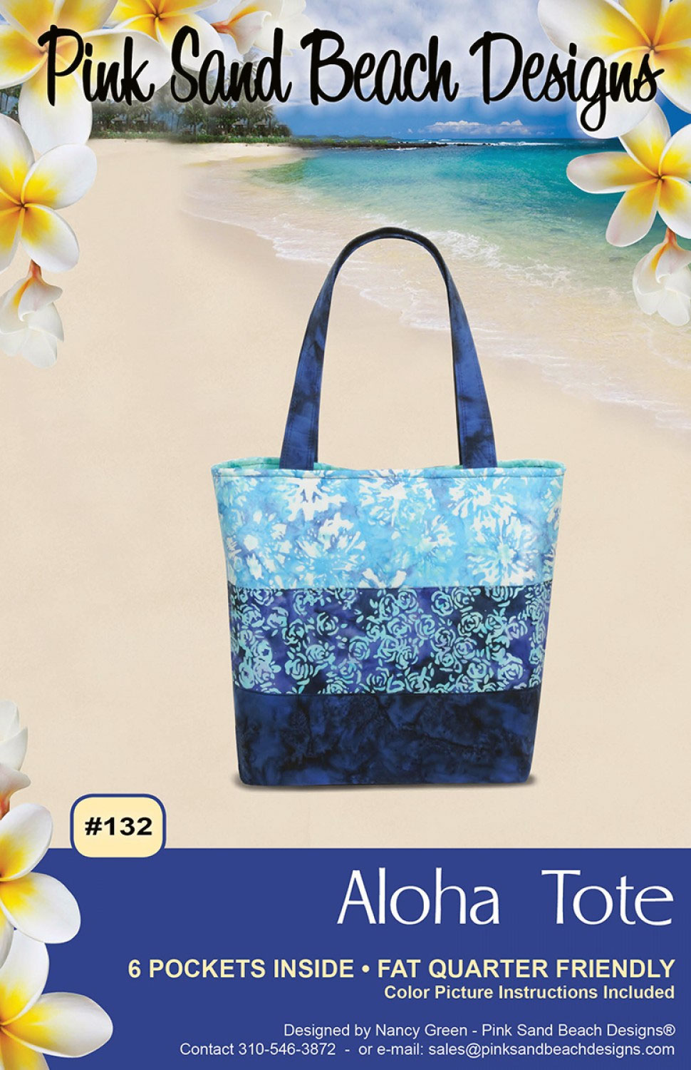 Aloha-Tote-sewing-pattern-Pink-Sand-Beach-Designs-front