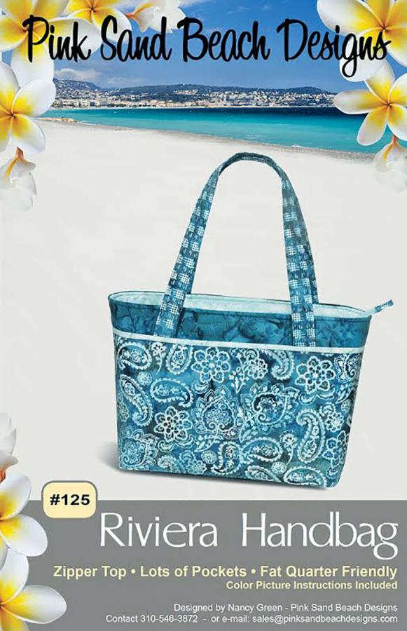 Riviera Handbag sewing pattern from Pink Sand Beach Designs