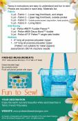 Tahiti Tote sewing pattern from Pink Sand Beach Designs 1