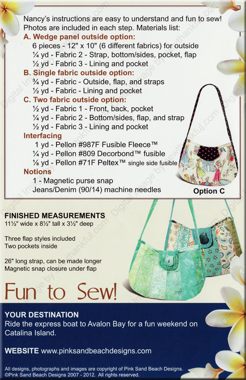 101 Catalina Sling Sewing Pattern From Pink Sand Beach