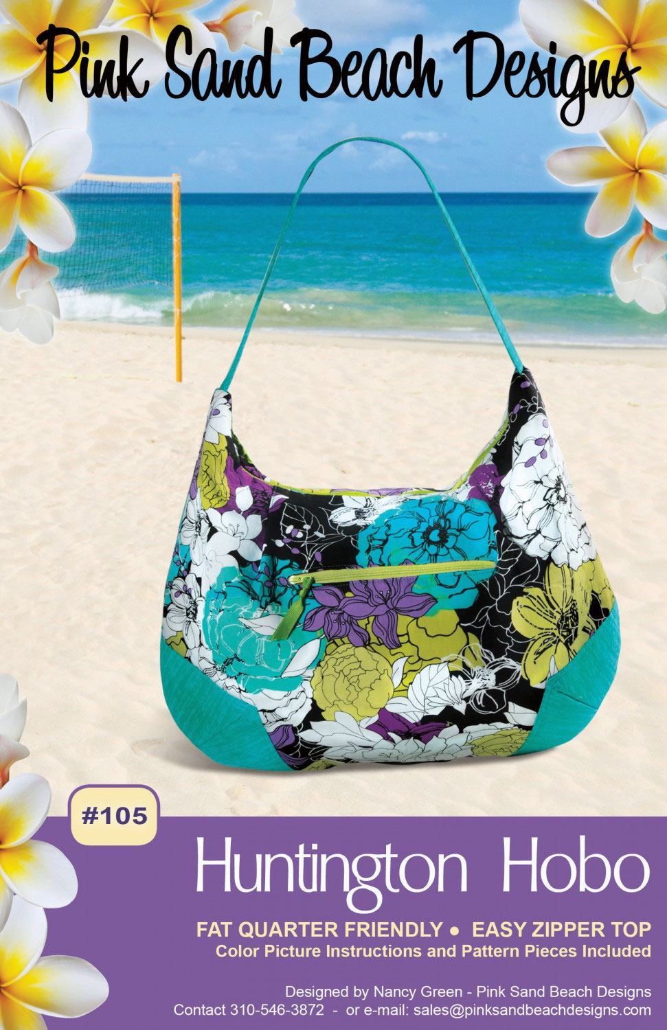 105 Huntington Hobo Sewing Pattern From Pink Sand Beach