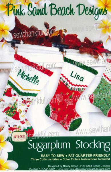 Sugar Plum Stocking sewing pattern from Pink Sand Beach Designs