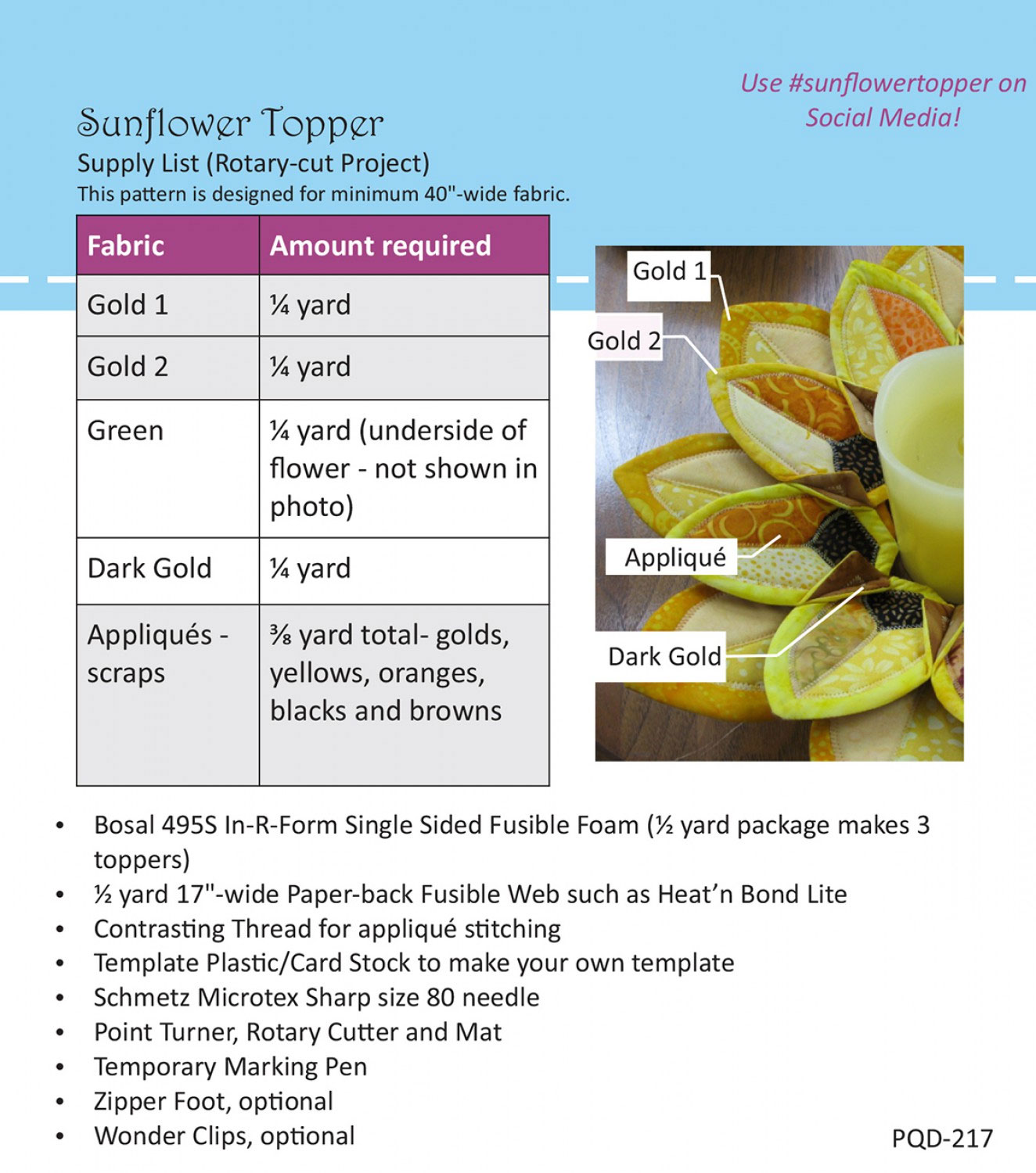 Sunflower-Table-Topper-sewing-pattern-Poorhouse-Designs-back