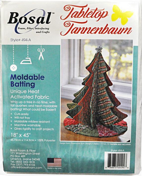 Bosal Tabletop Tannenbaums Moldable Batting
