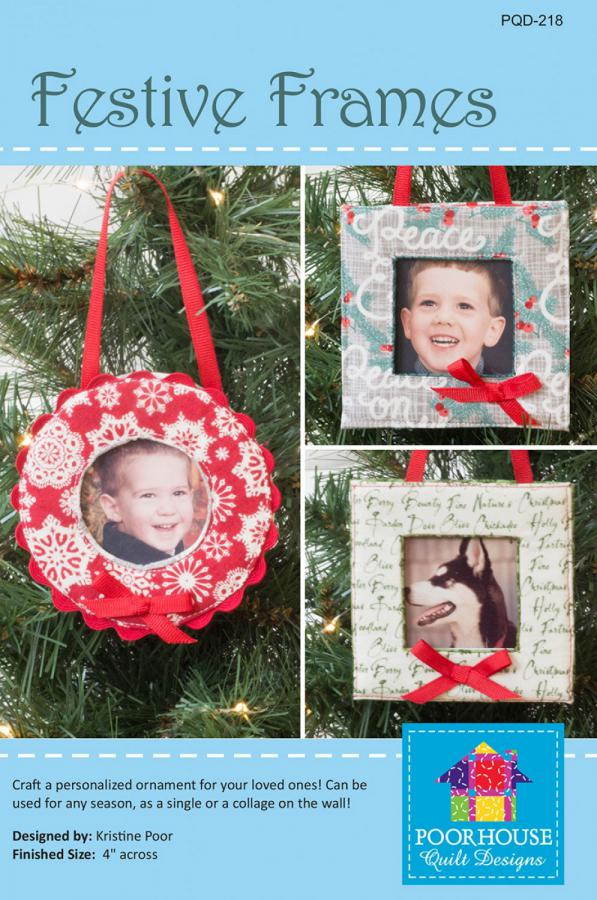 Festive Frames sewing pattern by Poorhouse Quilt Designs