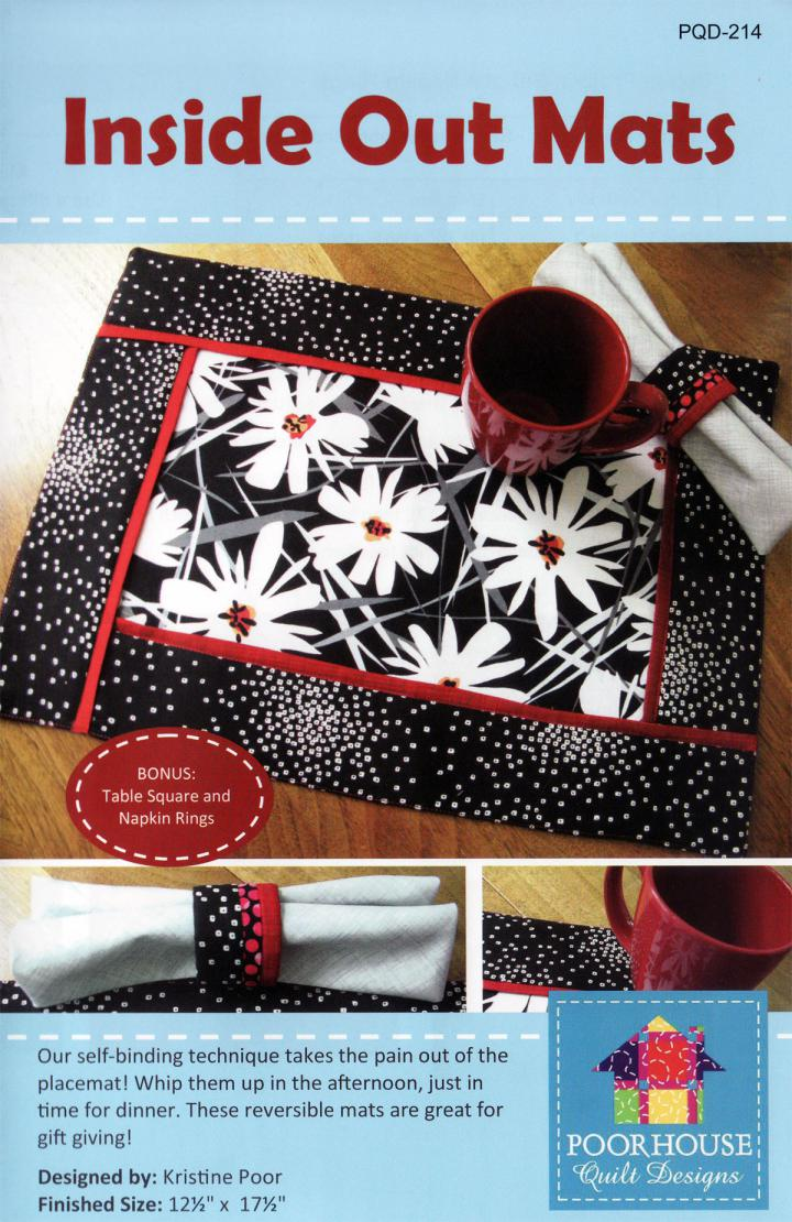 Inside Out Mats sewing pattern by Poorhouse Quilt Designs