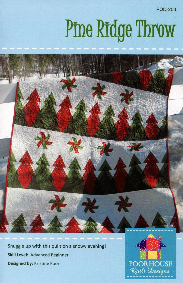 Pine Ridge Throw quilt sewing pattern by Poorhouse Quilt Designs