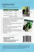 Carefree Cacti sewing pattern by Poorhouse Quilt Designs 1
