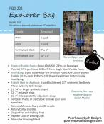 Explorer Bag sewing pattern by Poorhouse Quilt Designs 1