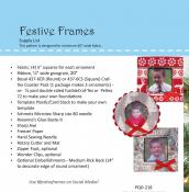 Festive Frames sewing pattern by Poorhouse Quilt Designs 2