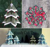 INVENTORY REDUCTION...Fold'N Stitch Holiday Accents sewing pattern by Poorhouse Quilt Designs 2