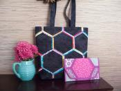 Honeycomb Handbags sewing pattern by Poorhouse Quilt Designs 3