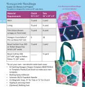 Honeycomb Handbags sewing pattern by Poorhouse Quilt Designs 2