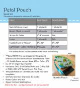 Petal Pouch sewing pattern by Poorhouse Quilt Designs 1
