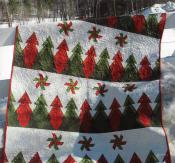 Pine Ridge Throw quilt sewing pattern by Poorhouse Quilt Designs 2