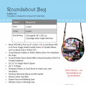 Roundabout Bag sewing pattern by Poorhouse Quilt Designs 2