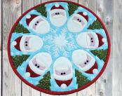 Santa Go Round table topper sewing pattern by Poorhouse Quilt Designs 3