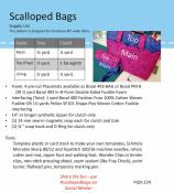Scalloped Bags sewing pattern by Poorhouse Quilt Designs 1