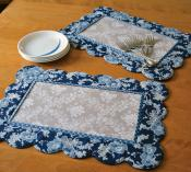 Scalloped Placemats sewing pattern by Poorhouse Quilt Designs 2