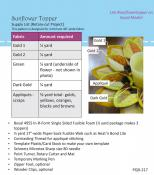 Sunflower Topper sewing pattern by Poorhouse Quilt Designs 2
