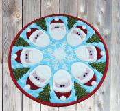 Santa Go Round table topper sewing pattern by Poorhouse Quilt Designs 2